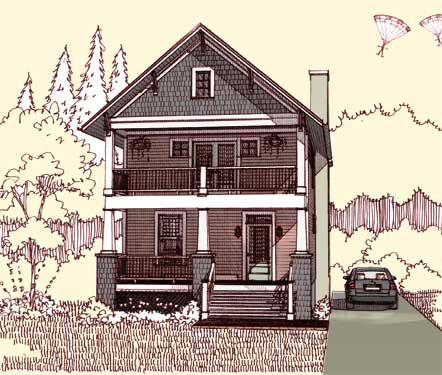 House Plan P1517a Sustainable Series Thompsonplans Com